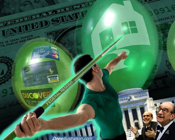 federal reserve creates and then bursts bubbles