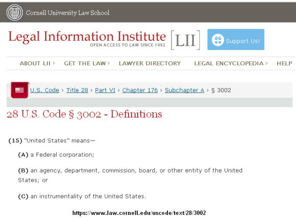 28 US Code Sec 3002
